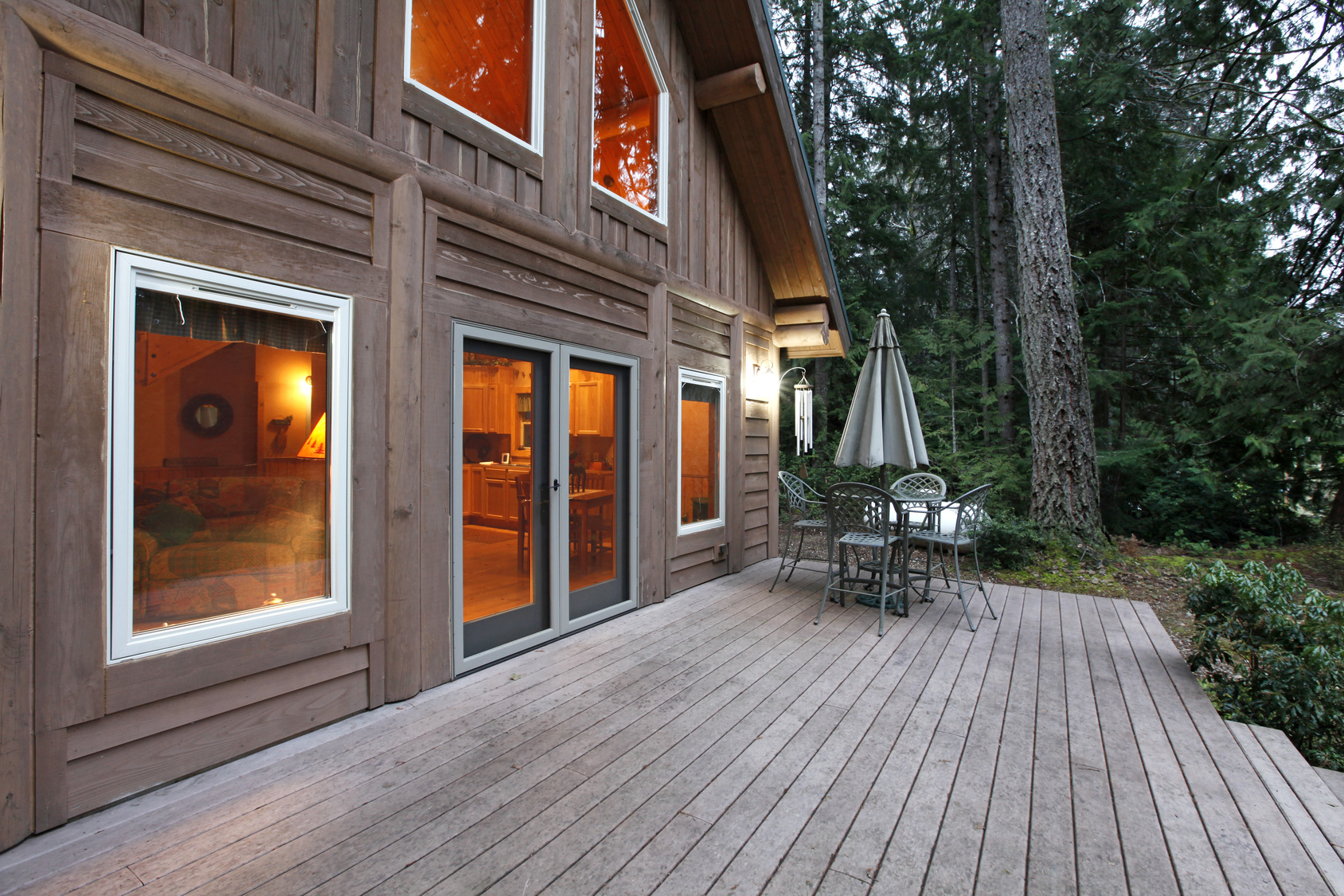 Porch at a Woodland Home