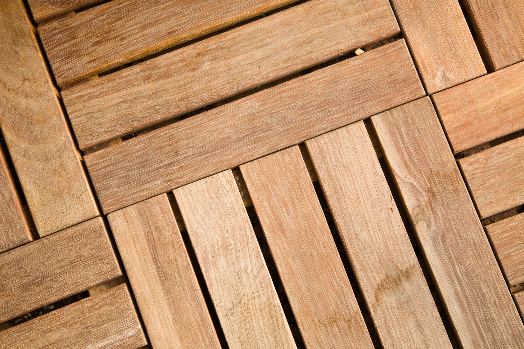 Wood tile decking